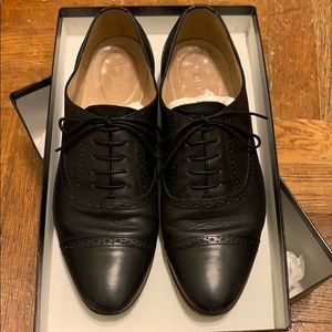 J.crew Leather Oxfords in Black